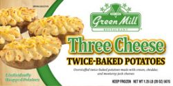 Green Mill Foods Three Cheese Twice Baked Potato Skins