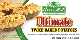 Green Mill Foods Twice Baked Potatoes
