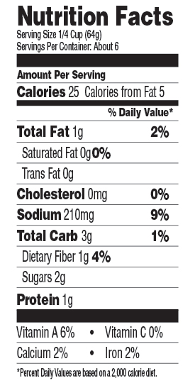 Green Mill San Marzano Pizza Sauce Nutrition Facts