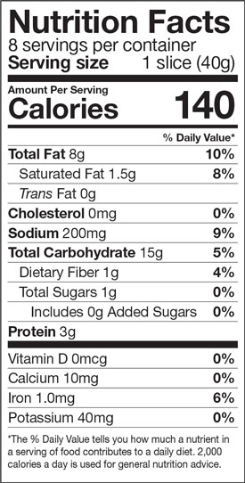 Green Mill Garlic Texas Toast Nutrition Facts