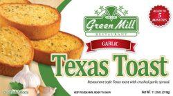 Green Mill Foods Garlic Texas Toast